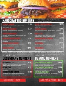 Bacon Nation Menu
